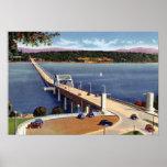 Puente de flotación de Washington del lago seattle Impresiones