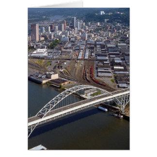 Puente de Fremont en Portland Oregon Tarjeta De Felicitación