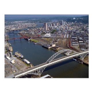 Puente de Fremont en Portland Oregon Tarjetas Postales