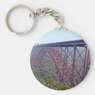 Puente de garganta de nuevo río llavero redondo tipo pin