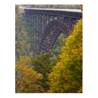 Puente de garganta de nuevo río, nueva garganta tarjeta postal