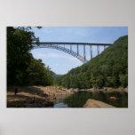 Puente de garganta de nuevo río WVA Impresiones