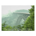 Puente de garganta de nuevo río WVa Posters