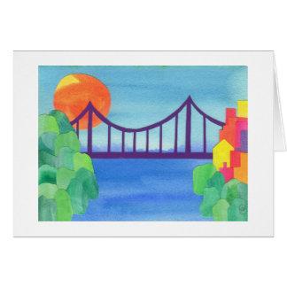 Puente de George Washington Tarjeton