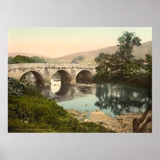 Puente de Grindleford, Derbyshire, Inglaterra Póster