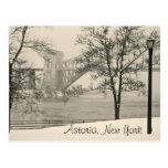 Puente de Hellgate, postal de Astoria Nueva York