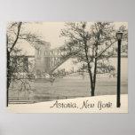 Puente de Hellgate, poster de Astoria, Nueva York