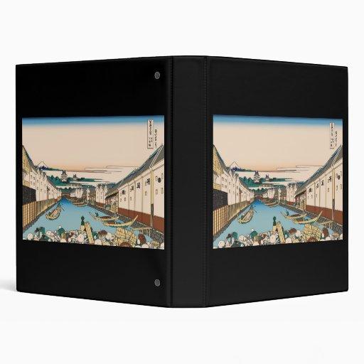 Puente de Hokusai Nihonbashi en Edo