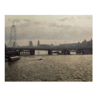 Puente de Hungerford del puente de Waterloo Postales