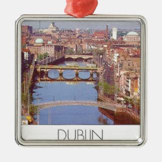 Puente de Irlanda Dublín (nuevo) (St.K) Adorno Cuadrado Plateado
