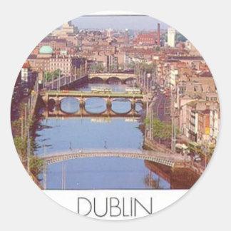 Puente de Irlanda Dublín (nuevo) (St.K) Pegatina Redonda