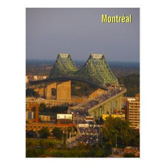 Puente de Jacques Cartier en la puesta del sol Tarjetas Postales