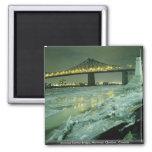 Puente de Jacques Cartier, Montreal, Quebec, Canad Iman Para Frigorífico