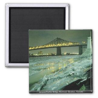 Puente de Jacques Cartier Montreal Quebec Canad Iman Para Frigorífico