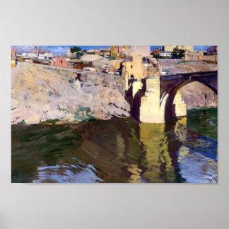 Puente de Joaquín Sorolla- San Martin en Toledo Póster