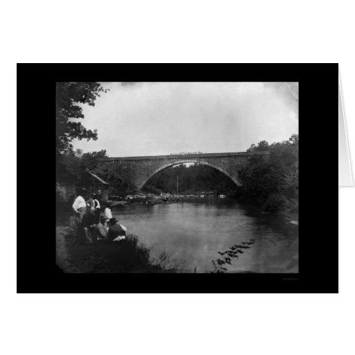 Puente de Juan de la cabina, MD 1865 Tarjeta De Felicitación