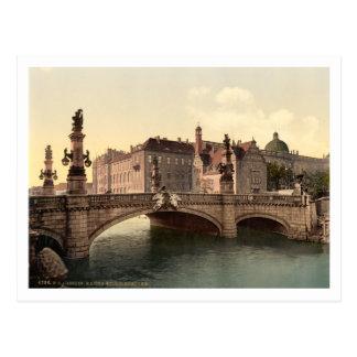 Puente de Kaiser Wilhelms, Berlín, Alemania Tarjeta Postal