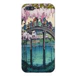 Puente de Kameido por hanga de la espinilla de Hir iPhone 5 Protector