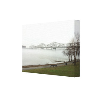 Puente de Kennedy en Louisville Kentucky Lona Envuelta Para Galerias