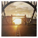 Puente de Kiyosu Azulejo Cuadrado Grande
