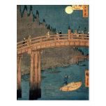 Puente de Kyoto por claro de luna Postal
