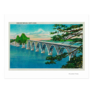 Puente de la bahía de los Coos en la curva del nor Tarjeta Postal