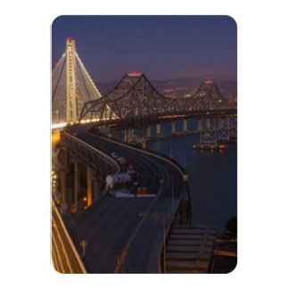 """Puente de la bahía de San Francisco-Oakland de dos Invitación 4.5"""" X 6.25"""""""
