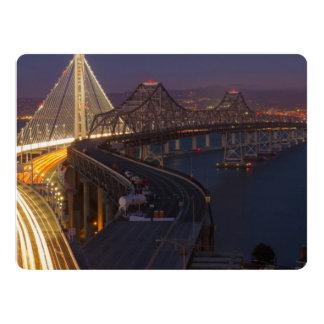 """Puente de la bahía de San Francisco-Oakland de dos Invitación 6.5"""" X 8.75"""""""
