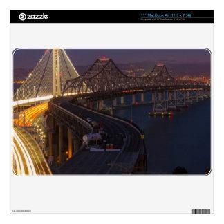 Puente de la bahía de San Francisco-Oakland de dos MacBook Air Skins