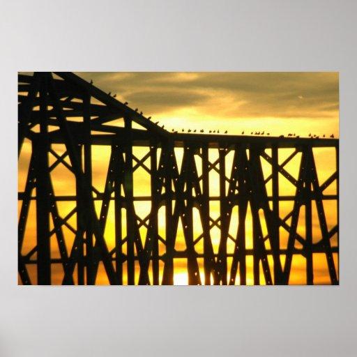 Puente de la bahía póster