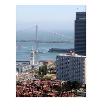 Puente de la bahía tarjeta postal
