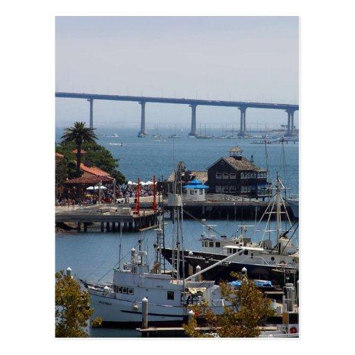 Puente de la bahía tarjetas postales