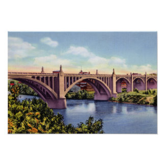 Puente de la calle de Allentown Pennsylvania Tilgh Poster