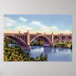 Puente de la calle de Allentown Pennsylvania Tilgh Póster