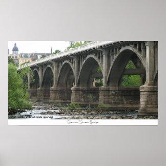 Puente de la calle de Gervais Posters
