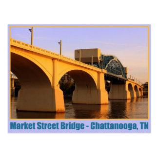 Puente de la calle de mercado - Chattanooga, TN Tarjeta Postal