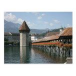 Puente de la capilla, Alfalfa, Suiza Tarjetas Postales
