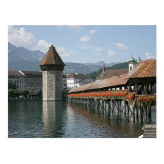 Puente de la capilla, Alfalfa, Suiza Postales