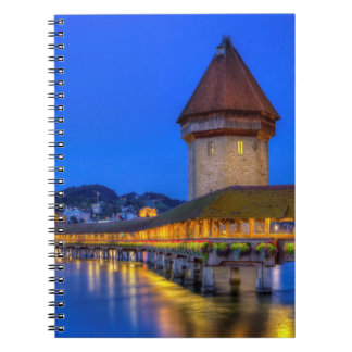 Puente de la capilla, Kapellbrucke, Alfalfa, Suiza Spiral Notebooks