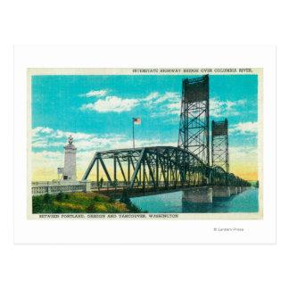 Puente de la carretera nacional sobre el río Colum Postales