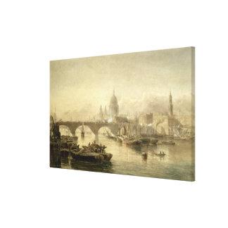 Puente de la catedral y de Londres de San Pablo de Impresiones En Lienzo Estiradas