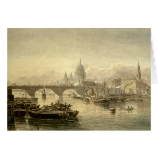 Puente de la catedral y de Londres de San Pablo de Tarjeton