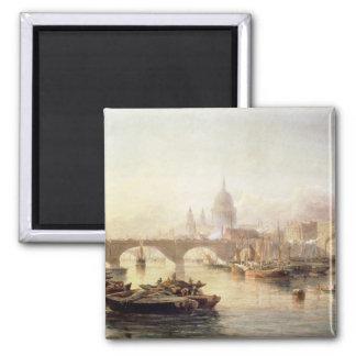 Puente de la catedral y de Londres de San Pablo Iman Para Frigorífico
