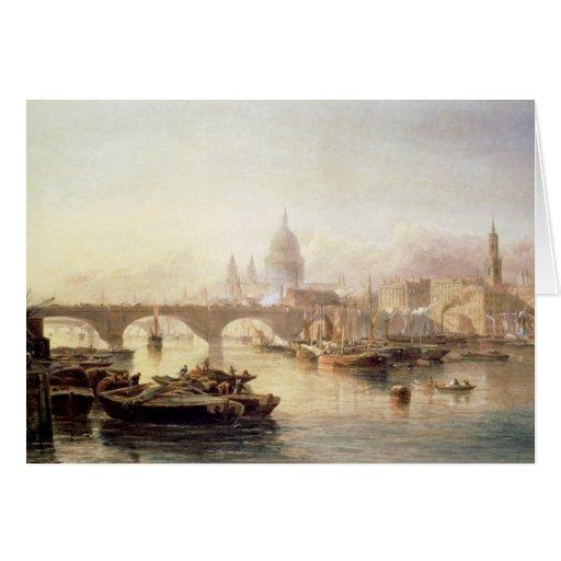 Puente de la catedral y de Londres de San Pablo Tarjeta De Felicitación