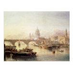 Puente de la catedral y de Londres de San Pablo Tarjeta Postal