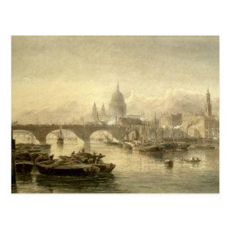 Puente de la catedral y de Londres de San Pablo Tarjetas Postales