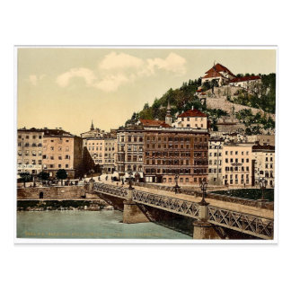 Puente de la ciudad, convento y Kapuzinerberg, Sal Tarjeta Postal
