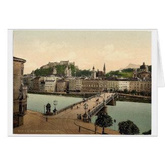Puente de la ciudad, Salzburg, Austro-Hungría Phot Felicitación
