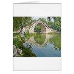 Puente de la correa del jade tarjetas