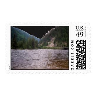 Puente de la corriente de Montana Sello Postal